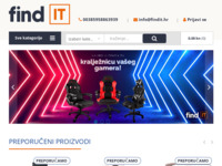 Frontpage screenshot for site: FindIt.hr - Web shop – Računala i mobiteli, bijela tehnika, ergonomske stolice… (https://findit.hr)