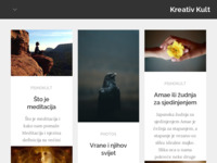 Frontpage screenshot for site: Kreativ Kult (http://www.kreativkult.com)