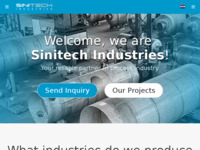 Frontpage screenshot for site: Sinitech Industries - proizvodnja opreme u procesnoj industriji (https://sinitech.eu/)