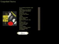 Frontpage screenshot for site: Gospodari Snova - sve pjesme u mp3 formatu (http://www.obecanazemlja.com/gs/index.html)