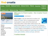 Frontpage screenshot for site: Find Croatia :: Vodič za Hrvatsku na engleskom jeziku (http://www.find-croatia.com/)