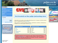 Frontpage screenshot for site: Peljar (http://peljar.cvs.hr/)