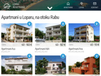 Frontpage screenshot for site: Lopar apartmani (http://www.lopar-apartment.com/)