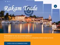 Frontpage screenshot for site: Novigrad, Istra - privatni smještaj (http://www.rakam-trade.hr)