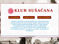 Frontpage screenshot for site: Klub Sušačana (http://www.klub-susacana.hr)