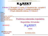 Frontpage screenshot for site: Korekt (http://www.korekt.hr)