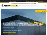 Frontpage screenshot for site: Arhiv-servis (http://www.arhivservis.hr/)