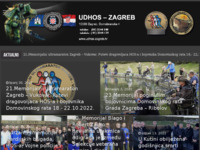 Frontpage screenshot for site: UDHOS, Zagreb (http://www.udhos-zagreb.hr/)