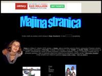 Frontpage screenshot for site: Osobna stranica Maje Kne?ević (http://members.tripod.com/~majica/Maja.htm)