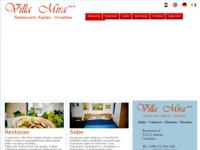 Frontpage screenshot for site: Villa Mira (http://www.villamira.hr/)