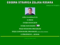 Frontpage screenshot for site: Osobna stranica Željka Kosaka (http://free-zg.htnet.hr/kosak)