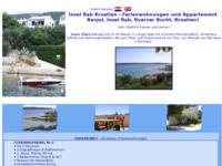 Frontpage screenshot for site: Apartmani Zlata, otok Rab (http://rab-croatia.com/zlata/)