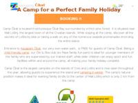 Frontpage screenshot for site: Kamp Čikat (http://www.camp-cikat.com)