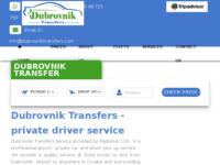 Slika naslovnice sjedišta: Dubrovnik Transfers Service (http://www.dubrovnik-transfers.com)
