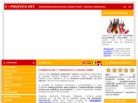Frontpage screenshot for site: (http://www.e-prijevod.net)