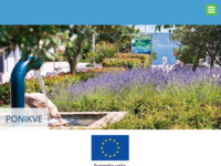 Slika naslovnice sjedišta: Ponikve d.o.o, Krk (http://www.ponikve.hr/)