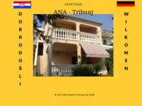 Slika naslovnice sjedišta: Apartmani Ana, Tribunj (http://www.inet.hr/~adebogov/)