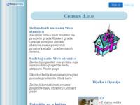 Frontpage screenshot for site: Census d.o.o. prodaja nekretnina (http://www.census.freeservers.com)