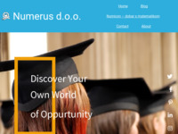 Frontpage screenshot for site: (http://www.numerus.hr/)