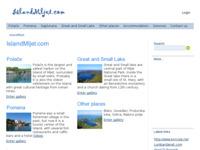Frontpage screenshot for site: (http://www.islandmljet.com)