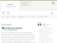 Frontpage screenshot for site: (http://www.hoteli-novi.hr/)