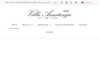 Frontpage screenshot for site: Villa Anastazija (http://www.villa-anastazija.hr/ )