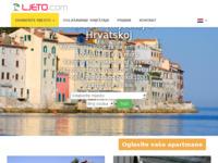 Frontpage screenshot for site: Privatni smještaj u Hrvatskoj (http://www.ljeto.com)