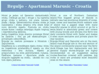 Frontpage screenshot for site: Brgulje apartments, brgulje ferienwohnung molat, croatia (http://free-zd.t-com.hr/apartmani_marusic/)