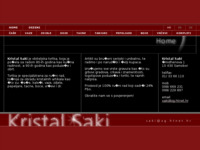 Frontpage screenshot for site: Saki Samobor (http://www.crystal-saki.com/)