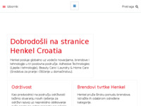 Frontpage screenshot for site: Henkel Croatia d.o.o. (http://www.henkel.hr/)