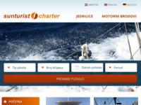 Frontpage screenshot for site: Sunturist charter Zadar (http://www.sunturist-charter.hr/)
