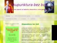 Slika naslovnice sjedišta: Akupunktura bez boli (http://www.akupunktura.akcije.biz/)