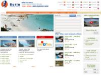 Frontpage screenshot for site: Burin d.o.o. putnička agencija (http://www.burin-korcula.hr/)