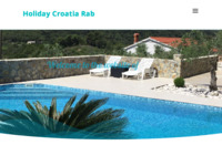 Frontpage screenshot for site: Holiday Croatia Rab (http://www.holiday-croatia-rab.com/)