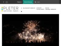 Frontpage screenshot for site: Pleter vatrometi d.o.o., Zagreb (http://www.pletervatrometi.hr/)