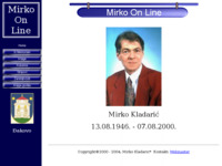 Frontpage screenshot for site: Mirko On Line (http://free-os.htnet.hr/Mirko_Kladaric/)