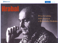 Frontpage screenshot for site: Bohumil Hrabal (http://hrabal.freeservers.com/)