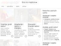 Frontpage screenshot for site: Mojmajstor (http://www.mojmajstor.hr)