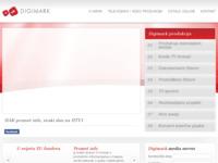 Frontpage screenshot for site: TV, audio i video produkcija (http://www.digimark.hr)