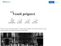 Frontpage screenshot for site: KUD Veseli prigorci (http://prigorje.8k.com/index.html)