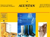 Frontpage screenshot for site: Alustan - aluminijska stolarija (http://www.inet.hr/~tukovaci/)