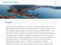 Frontpage screenshot for site: Fidelis d.o.o. za trgovinu i usluge (http://www.fidelis-apartmani.hr/)