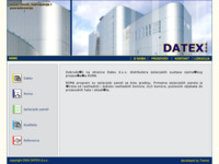 Frontpage screenshot for site: Datex d.o.o. (http://www.datex.hr/)