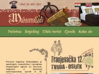 Frontpage screenshot for site: Maksimilian - privatni smještaj, Osijek (http://www.maksimilian.hr)