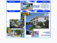 Frontpage screenshot for site: Apartmani Ribičić - Brela (http://www.inet.hr/~ivaribic/)