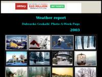 Slika naslovnice sjedišta: Vremensko izvješće 2003 - Dubravko Grakalić (http://graksi.tripod.com/index.html)