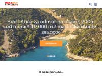 Frontpage screenshot for site: Pent-a-Split (http://www.penta-nekretnine.hr/)