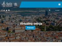 Frontpage screenshot for site: Split (http://www.visitsplit.com)