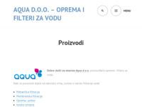 Frontpage screenshot for site: Aqua d.o.o. (http://www.aqua.hr)