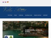 Frontpage screenshot for site: Villa Porat - Pisak - Omiš (http://www.villa-porat.com/)
